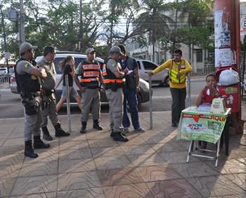 fiscais da Prefeitura de Rio Branco foram obrigados a tomar medidas extremas