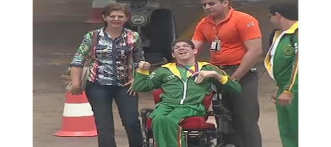 Os paratletas acreanos Eduardo Silva, Edvânio Silva e Afonso Nemetala fizeram bonito no 1º Campeonato Regional de Bocha Paralímpica,