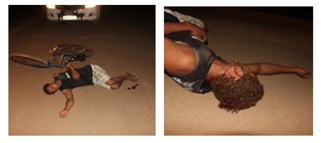 Os policiais resolveram então, analisar mais de perto a situação do homem caído no meio da rua.