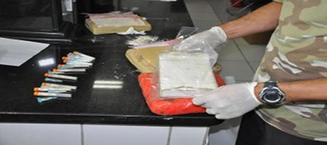 30 quilos de cocaína pura após adicionado produtos químicos pode chegar a 300 quilos do entorpecente.