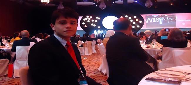 André Lucas durante jantar de gala da entrega do Wise Awards (Foto: André Lucas/ Arquivo pessoal)