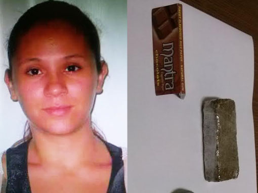 A droga foi descoberta pela polícia durante a revista pessoal Foto: Selmo Melo/ContilNet Notícias