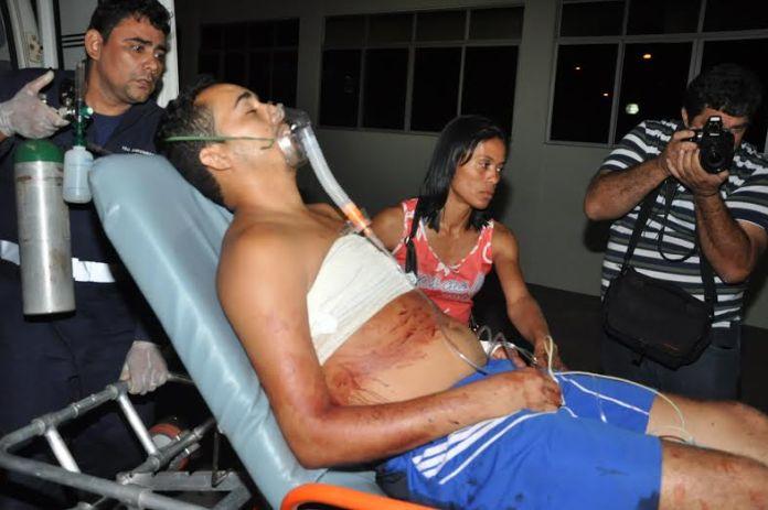 Vítima foi socorrida e encaminhada ao PS/Foto: Selmo Melo