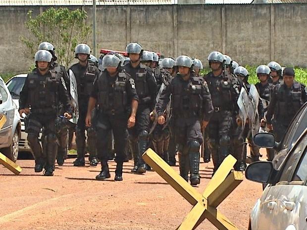 Bope foi acionado para conter princípio de motim na unidade prisional de Rio Branco (Foto: Reprodução/TV Acre)