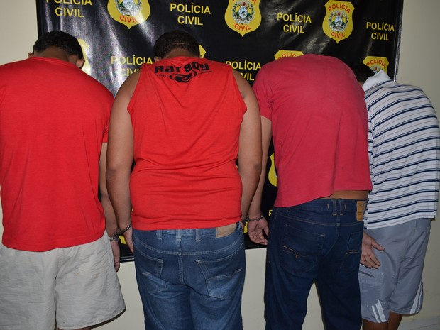 Ao todo, sete pessoas foram presas por suspeita de participação nos crimes (Foto: Aline Nascimento/G1)