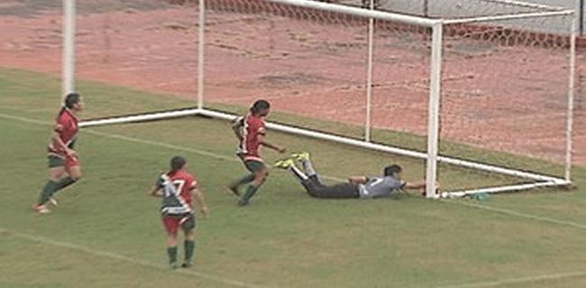Gol do Genus na vitória por 1 a 0 no Florestão causou polêmica (Foto: Reprodução/TV Acre)