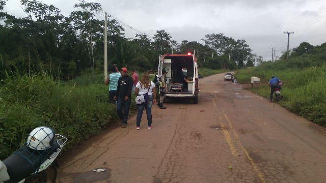 Vítima foram socorridas pelo Samu/Foto: Reprodução WhatsApp