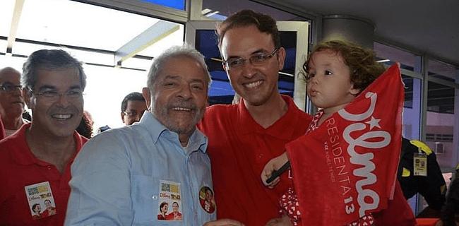 Léo de Brito com Lula e Jorge Viana na passagem do ex-presidente pelo Acre - Fotos: Divulgação