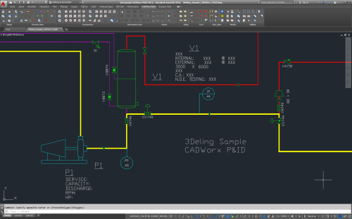 small resolution of screen showing some p id drawing prepared in cadworx p id