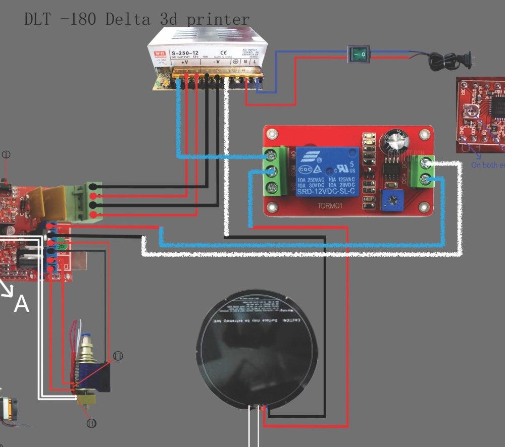 medium resolution of he3d delta dlt 180 heat bed relay wiring 3d printers talk