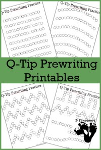 Fine Motor Practice With Q-Tip Prewriting Printables | 3 ...