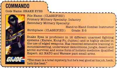 The G.I. Joe Rolodex: The Digital File Card Repository ...