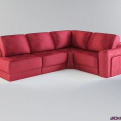 Corner Modular Sofa Best Sleeper 2018 Reviews In Red Upholstery Morgan  3d