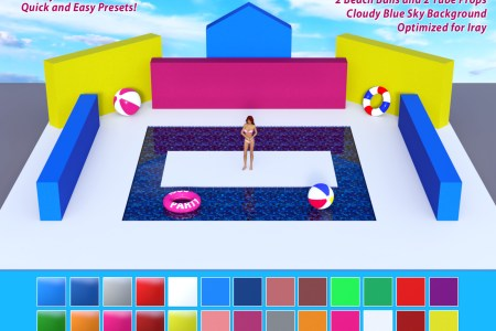 Quick Scenes – Deco Splash Pool for Daz Studio
