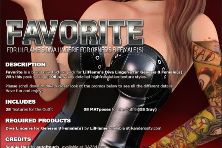 Favorite for Diva Lingerie for Genesis 8 Females