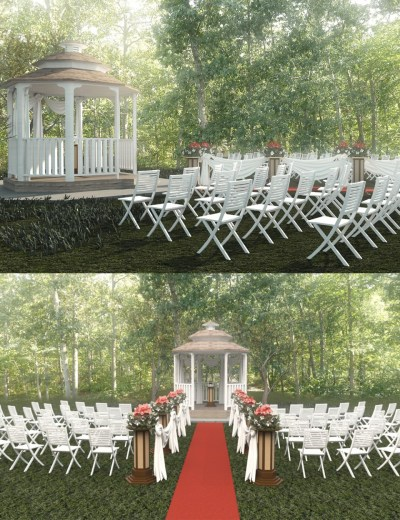 A place for a wedding for Daz Studio