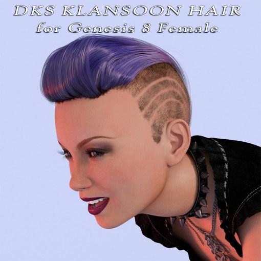 DKS Klansoon Hair for Genesis 8 Female