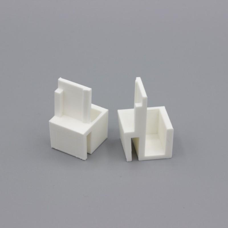 paire de guides blancs compatibles placards form optimum