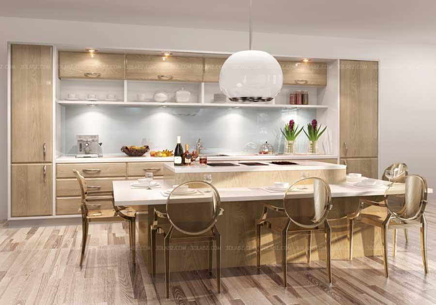 Kitchen 3D View PriceCost Kitchen 3D Design And Rendering