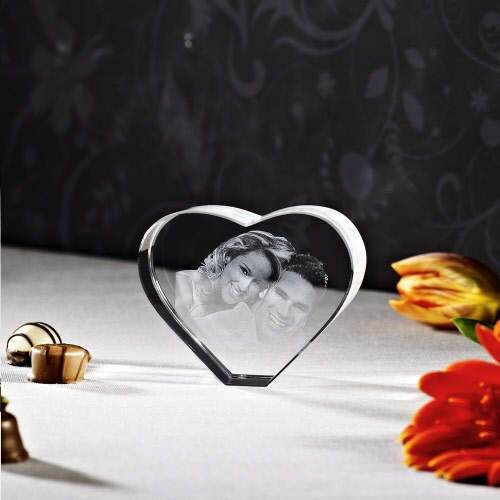 Foto 3d Portrait Glasblock