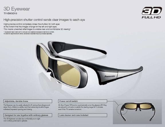 Gafas 3D de Panasonic