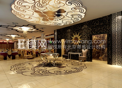 Chinese Banquet Hall Hotel 3D Model DownloadFree 3D