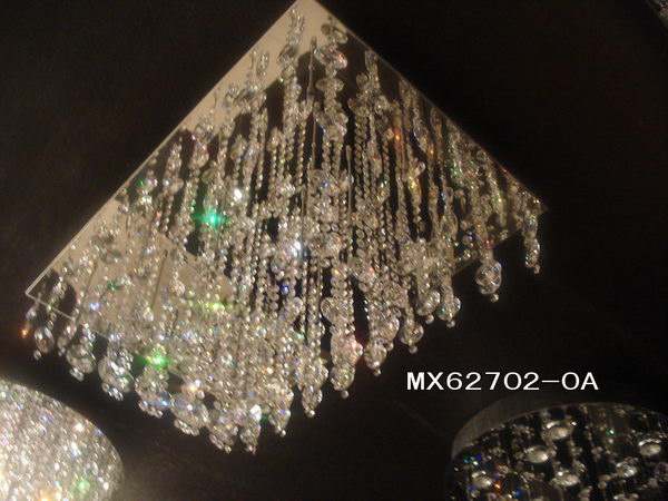 Luxury Rectangle Crystal Ceiling Lamp 3D Model Download