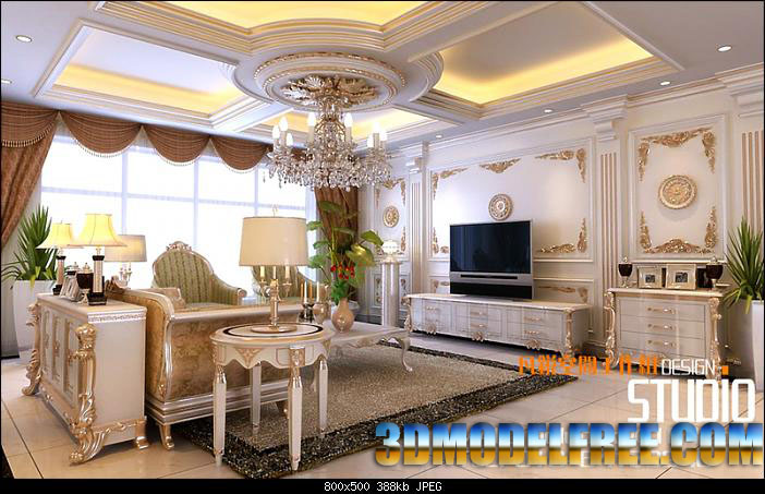 Deluxe House Decoration Elite Life 3D Model DownloadFree 3D Models Download