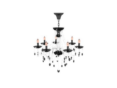 Pendant Lamp Model£ºCandle Crystal Chandelier 3Ds Max