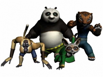 Kung Fu Panda tigers monkeys rats Panda Model 3D Model