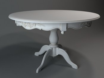 European Round Table 3D Model of 2 3D Model DownloadFree