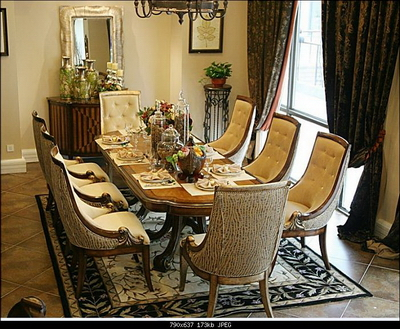 Europeanstyle dining table and chair combination of a set