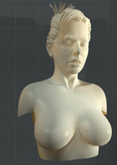 Bust model of female body 3D Model DownloadFree 3D Models