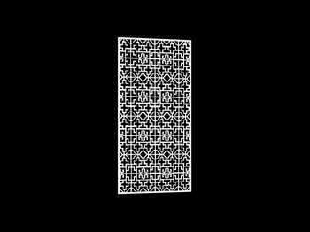 3D Model of Chinese carved hollow partition 45 3D Model