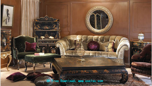 European lowprofile sofa 3D model portfolio including