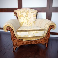 European luxury single sofa chair 3D Model 3D Model
