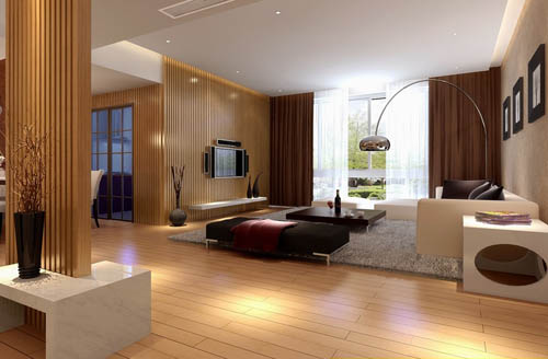 Bright and spacious living room design model 3D Model DownloadFree 3D Models Download