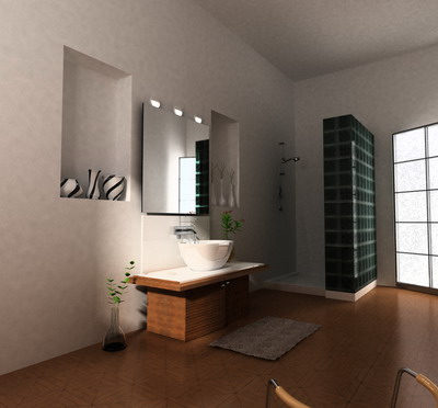 Simple Style Bathroom 3D Model 3D Model DownloadFree 3D