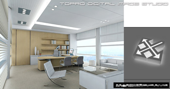 Simple Office Overall Model 3D Model DownloadFree 3D
