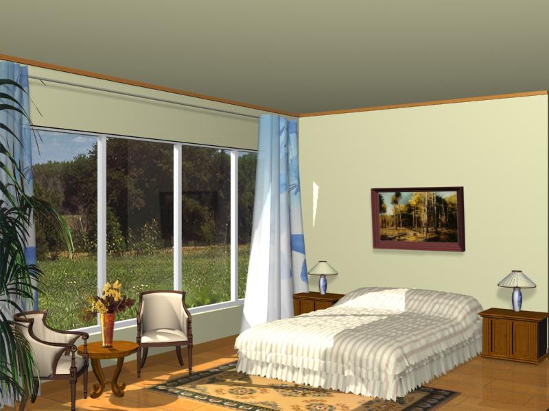Spacious bedrooms 3D model 3D Model DownloadFree 3D