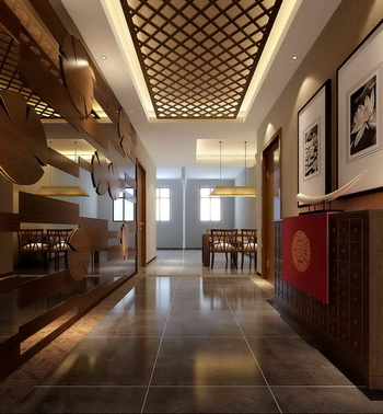Chinesestyle entrance hall corridor 3D Model DownloadFree 3D Models Download
