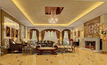 Exquisite Golden Luxury Living Room 3d Model Download Free