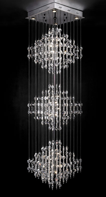 Ultramodern crystal chandelier 3D Model DownloadFree 3D
