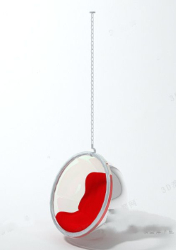 hanging chair on wall aluminum bar chairs luxury red 3d model download,free models download