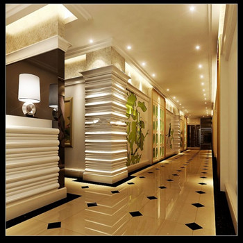 Model Modern Hotel Hallway 3D Model DownloadFree 3D