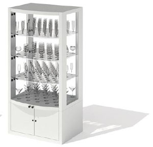 Jewelry Counters Jewelry Shelves 3D Model DownloadFree