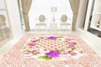 3d Pink Flower Epoxy Floor - 3D Panel Nigeria
