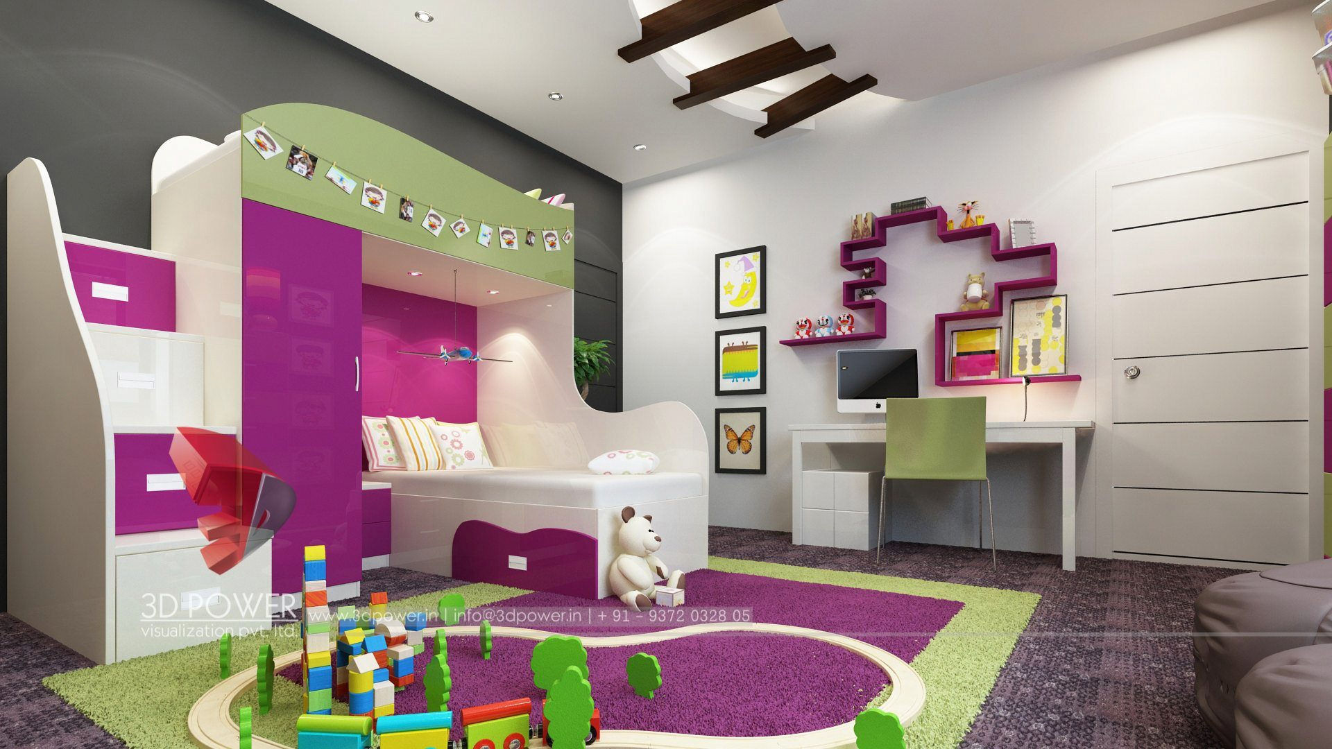 3d interior design rendering