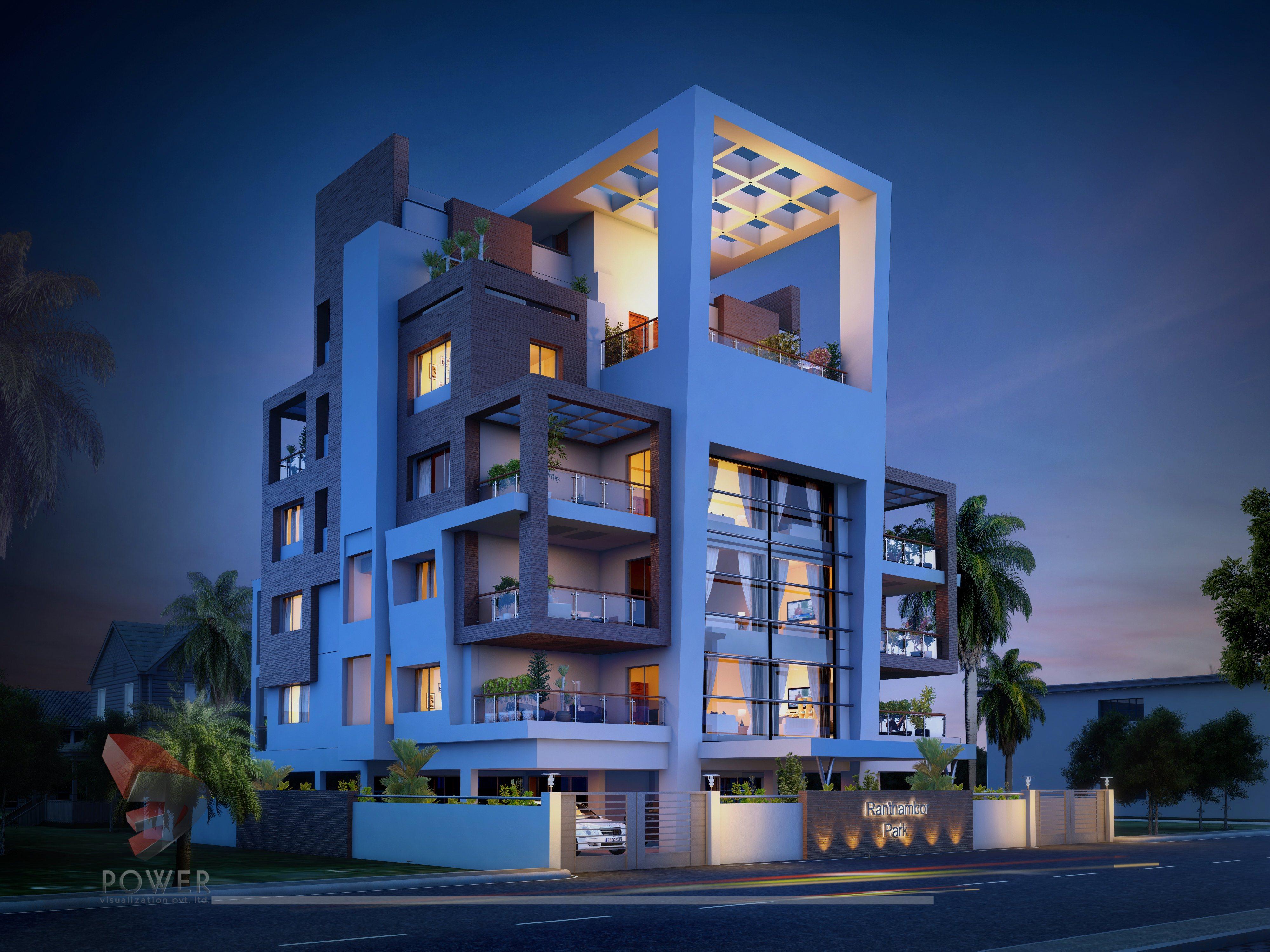 Apartment Elevation Designing  3D Architectural Rendering