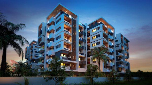 3D Apartment Design Elevation